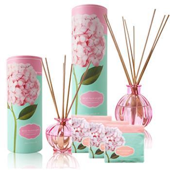The Aroma純淨佳人 繡球花櫻花香組+香氛包3盒(120ml+40ml+香氛包x9包)