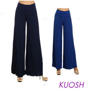 【Kuosh】美國進口高雅皺褶寬版長褲(現貨+預購)NW-4101