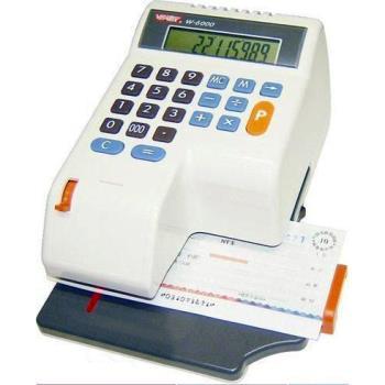 【VERTEX世尚】微電腦光電+撥鍵中文支票機 W-6000