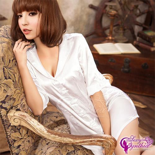 【Sexy Cynthia】長版低胸挑逗俏秘書角色扮演服