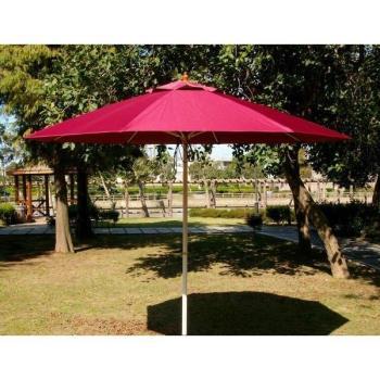 BROTHER 兄弟牌九尺玻璃纖維骨架+鐵管烤漆防水太陽傘 (酒紅色大型 2.7m)