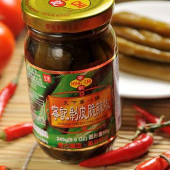 《寧記》剝皮脆辣椒(245g/罐,共兩罐)