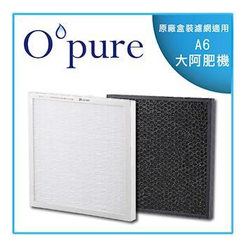 Opure臻淨 A6 電漿殺菌 強效除臭醫療級HEPA空氣清淨機 兩片濾網組 (一年份)