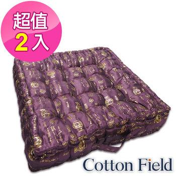 棉花田【富貴平安】燙金立體胖胖坐墊-富貴紫(二件組)