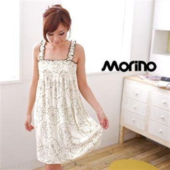 MORINO摩力諾奧莉薇印花浴裙(2入組