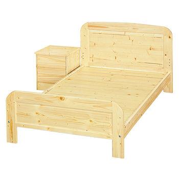 顛覆設計 松木實木床架單人加大3.5尺