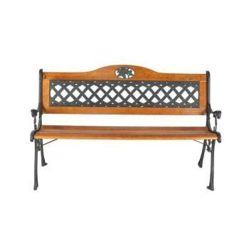 BROTHER 兄弟牌歐式雙人花網鑄鐵公園椅(附椅背)