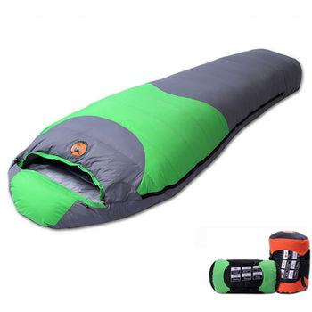 PUSH! 登山戶外用品 90%1500G白鴨絨蓬鬆度為600專業型超值可拼接全開羽絨睡袋一入