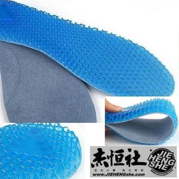 JHS杰恆社鞋墊款45舒適女碼一對中國碼34至40鞋墊超軟矽膠蜂窩氣墊全墊1CM