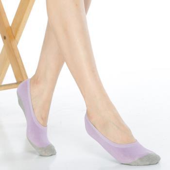 【KEROPPA】吸濕/止滑/減壓竹炭隱形襪*6雙(男女適用)C502-紫色