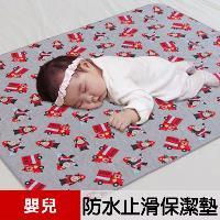 【米夢家居】台灣製造 全方位超防水止滑保潔墊/生理墊/尿布墊(嬰兒75x90cm)-猴子消防員