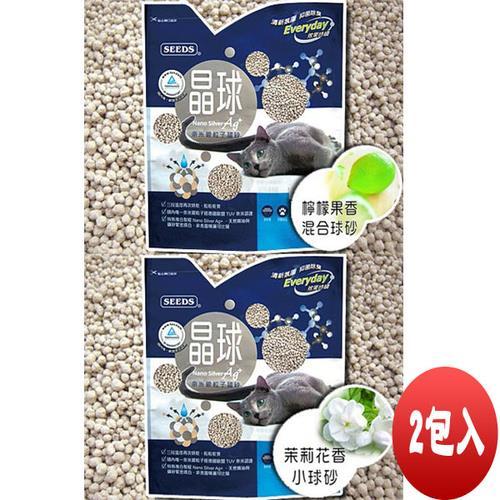 【SEEDS】惜時 奈米銀粒子 晶球貓砂 茉莉+檸檬 2包入組