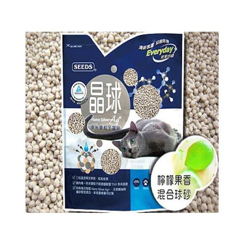 【SEEDS】惜時 奈米銀粒子 晶球貓砂 檸檬果香 混合球砂 X 3包入