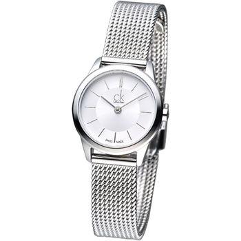 cK 經典系列米蘭仕女腕錶-銀白K3M23126