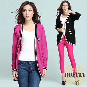 【ROFFLY蘿芙莉】預購-韓版中長款不規則衣擺針織衫開衫毛衣外套(MU812803)