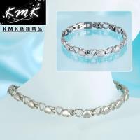 KMK鈦鍺精品【心連心】純鈦+磁鍺健康手鍊、項鍊(套組)