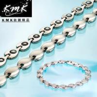 KMK鈦鍺精品【荷葉風情】純鈦+磁鍺健康手鍊、項鍊(套組)