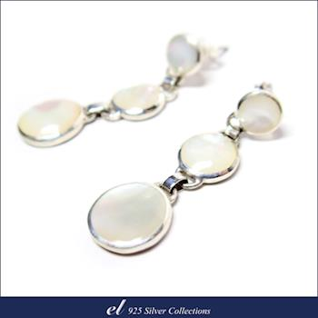el 925銀飾 - 珍珠母貝耳環 Glob