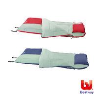 Bestway 81x35多功能附枕睡袋-紅/藍