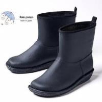 【Charming】日本製 時尚造型【個性雪靴雨鞋】-黑色-712