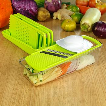PUSH!廚房用品 防切手刨絲器切菜器磨碎沫生菜蔬果多功能料理機