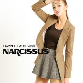 [NARCISSUS]TENCEL天絲棉窄版合身單釦西裝外套 橄綠-S-M