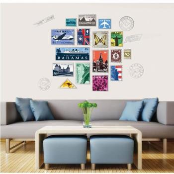 JB 時尚壁貼 - 郵票牆貼