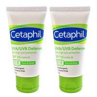 【Cetaphil舒特膚】極緻全護低敏防曬霜(50ml x2)