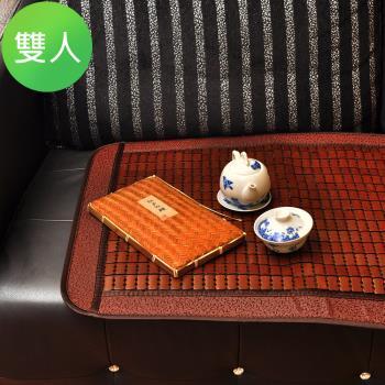 【人之初】《富士聖》天王級冷山冰涼碳化麻將蓆坐墊(雙人)