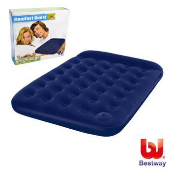 Bestway 雙人高級植絨充氣床墊(內置充氣幫浦)75X54X8.5-藍