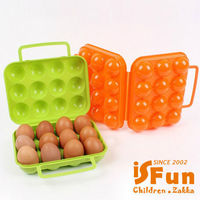 【iSFun】野餐露營*12顆裝雞蛋防撞盒/隨機色