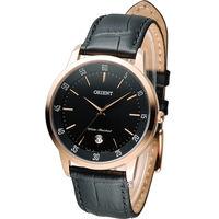 東方錶 ORIENT 日系簡約時尚紳士錶 FUNG5001B 黑