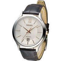 精工 SEIKO CS 紳士經典時尚腕錶 7N42-0GG0K SGEH55P1 咖啡皮