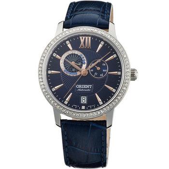 ORIENT 東方錶 璀璨星辰機械錶 SET0W002D 皮帶款 午夜藍