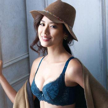 【摩奇X】大V美背系列D-E罩杯內衣(午夜墨綠)