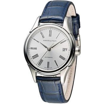 漢米爾頓 Hamilton Classic 經典時尚機械錶 H39415654 銀x藍
