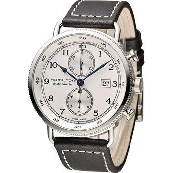 漢米爾頓 Hamilton Pioneer Auto Chrono 復刻計時腕錶 H77706553 米白