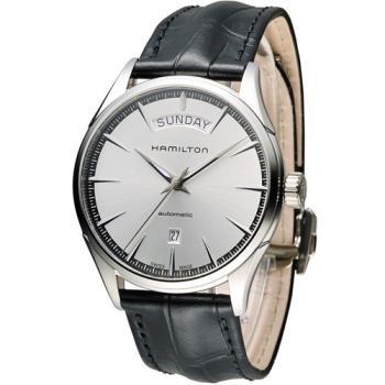 漢米爾頓 Hamilton Jaazmaster Day/Date 時尚機械錶 H42565751 白x咖啡