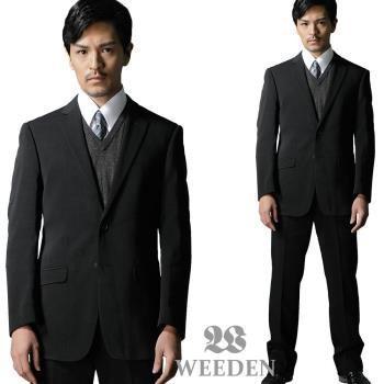 WEEDEN 鍺合金機能纖維成套西裝/平面褲‧驅動黑