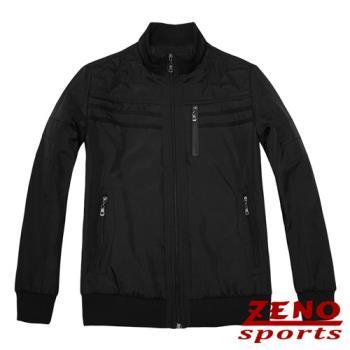 ZENO傑諾 設計款都會時尚保暖外套‧黑色M~XL