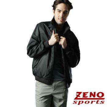 ZENO傑諾 韓風立領防風釦時尚外套‧黑色M~XL