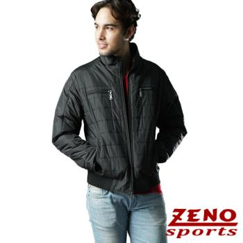 ZENO傑諾 韓風時尚保暖格紋外套‧黑色M~3L