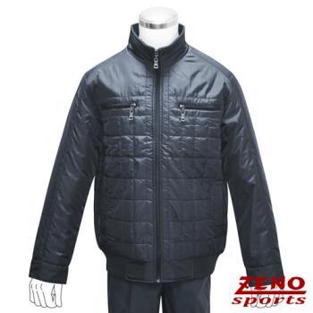 ZENO傑諾 韓風時尚保暖格紋外套‧深灰L~XL