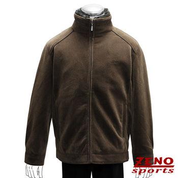 ZENO傑諾 極致保暖仿羊絨精品外套‧棕色M~3L