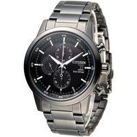 星辰 CITIZEN 急速豪傑光動能計時腕錶 CA0615-59E 黑