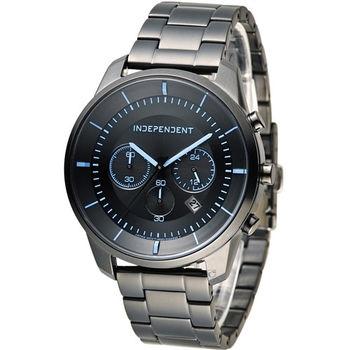INDEPENDENT 潮流玩酷炫彩計時腕錶 KF5-144-55 黑