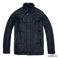 GIBBON 韓式亮面設計款輕暖外套‧黛黑色M~3L