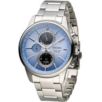 SEIKO SPIRIT 萬年曆多功能計時腕錶 V198-0AC0B SBPJ001J