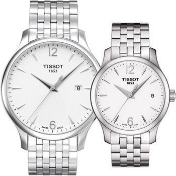 TISSOT TRADITION 非你不可時尚對錶 T0636101103700  T0632101103700