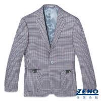 ZENO傑諾英式格紋羊毛休閒西裝外套‧花呢格46~54